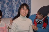 Xiaopei enjoying her pearls