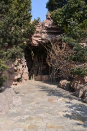 Notable: This is the cave to the restrooms, the CLEANEST public outdoor restroom we have visited.