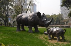 Photo taken in the Jing'An park located in the West Nanjing area of Shanghai.