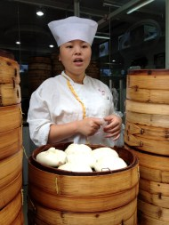 The steamed buns are delicious! Our favorite kind are the pork filled buns.