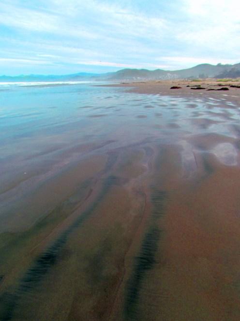 Coastline in Morro Bay, California.