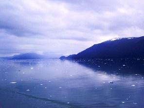 Alaska bay and coast line.
