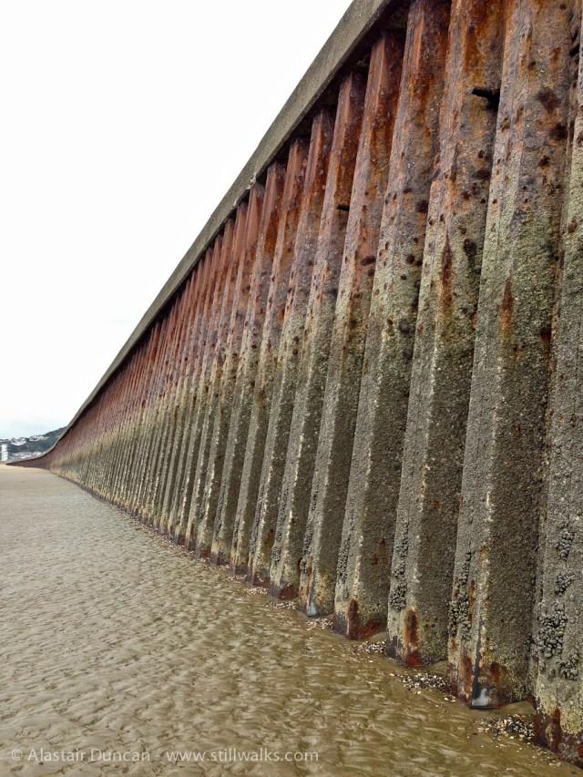 rusty sea wall