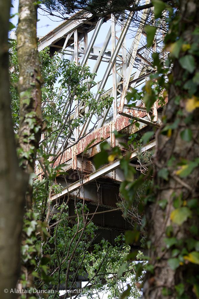 Railway bridge from below