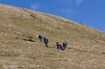 Climbing Pen y Fan