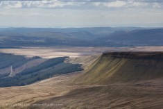 Looking south from Pen y Fan