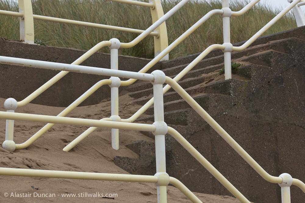 steps under sand