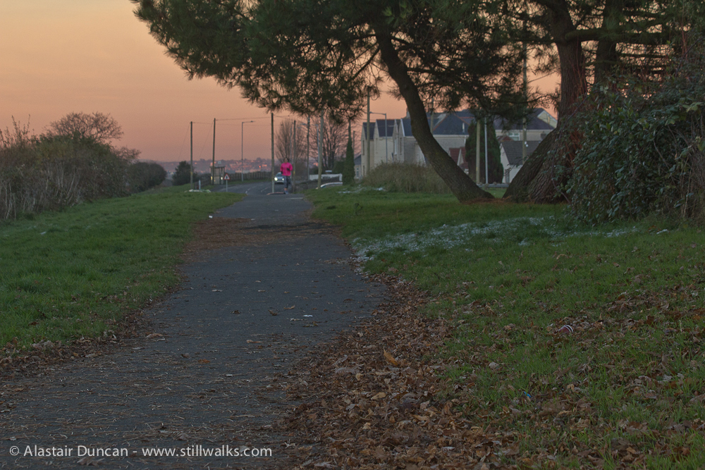 Footpath at the end of the day