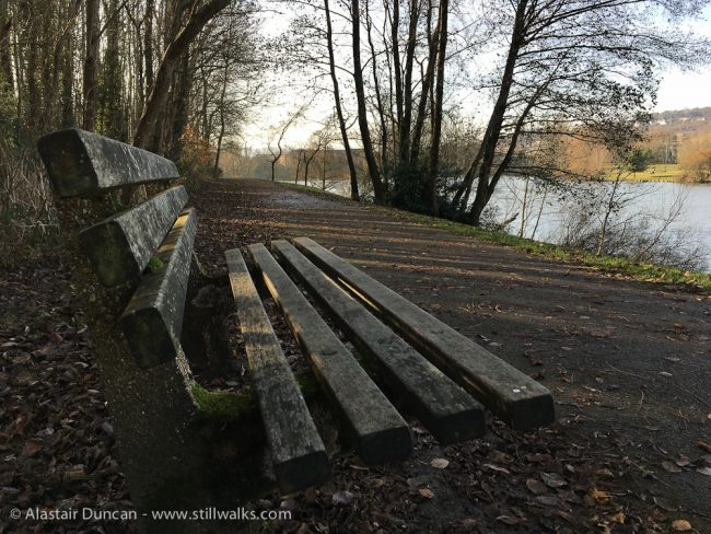 urban lakeside seat