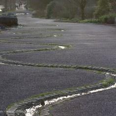 Twisting water at Botanic Garden of Wales
