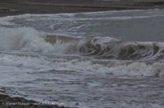 grey sea white waves