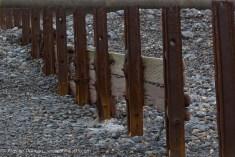 rusty metal sea break