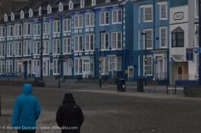 Blue Aberystwyth sea front