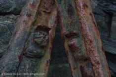 rusty metal rails