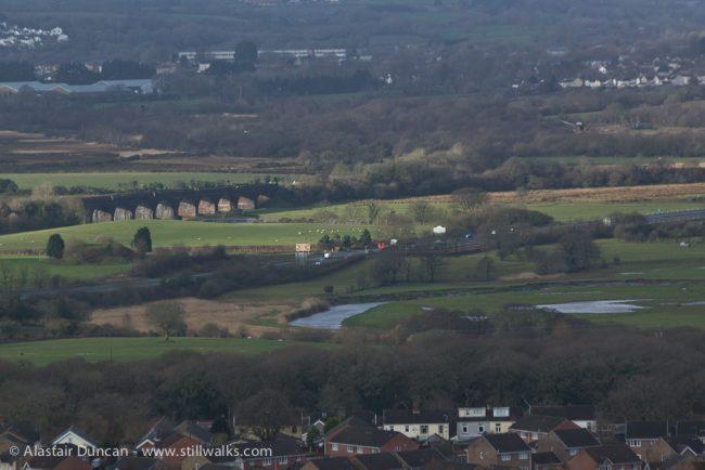 hilltop view of 11 arched bridge