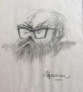 Dad caricature by Bob Freeman