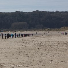 ToG walkers at Oxwich Bay