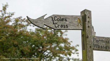 Dorset footpath sign post