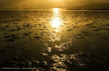 golden sunset on sand