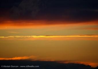 sunset clouds close up