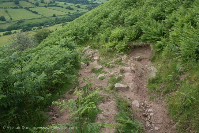 steep hillside footpath