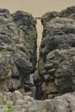 crack in the rocks