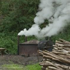 charcoal making