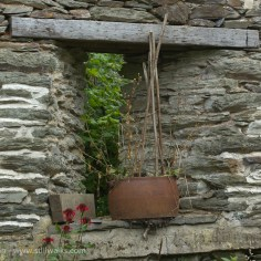 rusty iron and lintel
