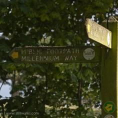 Millennium Footpath sign