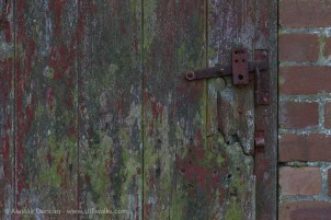 aged paint and handle