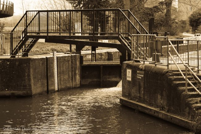 River Nene lock gate