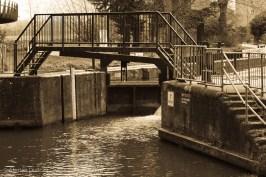 River Nene lock gate
