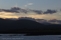 late evening Galloway hills