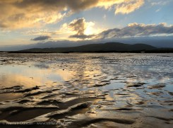 Low tide and lowering sun