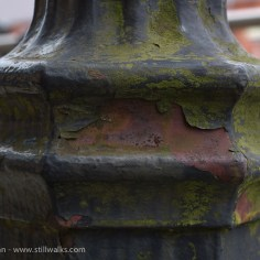 weathered lamp post