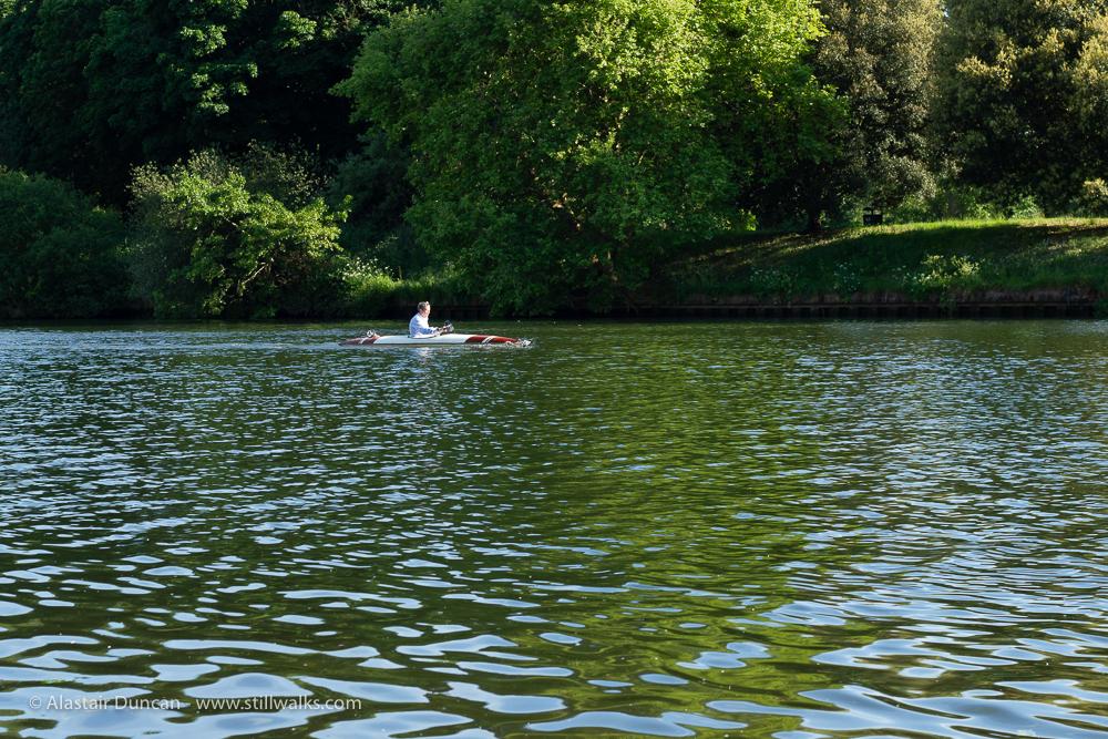 River Thames canoist
