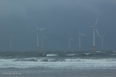 North Sea wind turbines