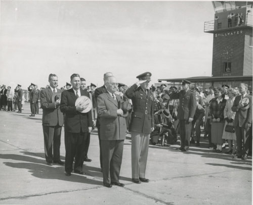 President Harry Truman was one of several US Presidents to visit Stillwater via air travel.