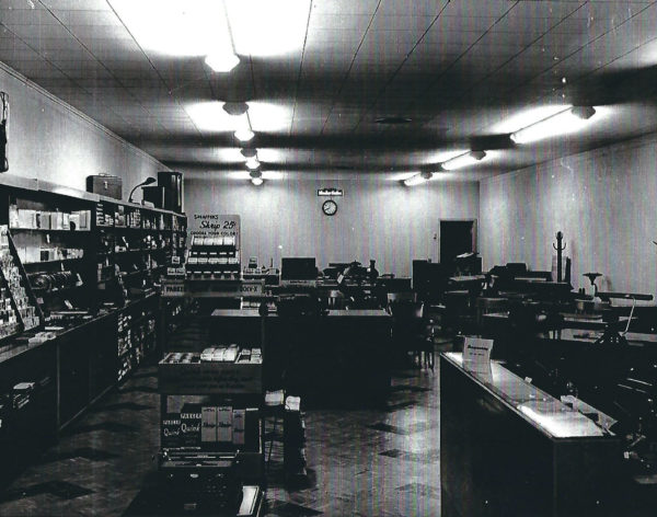 "Fenton's originally opened as ""Peerless Office Supply"" in 1941 at 711 S. Main before moving to its second, larger location at 809 S. Main."