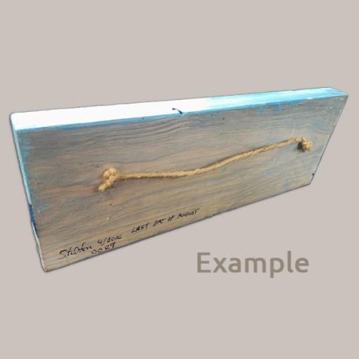 Jute Hanger on Back of Faux Driftwood Board