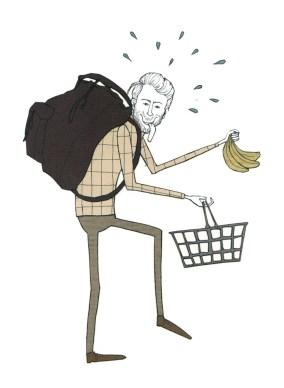 Diät durch einen schweren Rucksack
