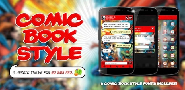 Go SMS Pro Comic Book Theme: The Hero Your Messaging Deserves