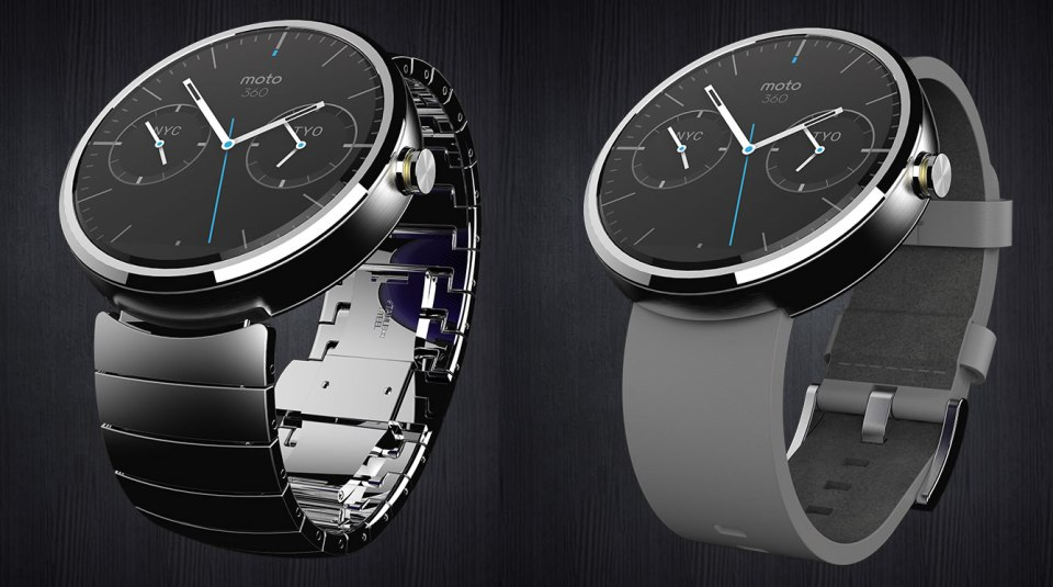 Moto 360 Smartwatch. Yes, that's a digital screen!