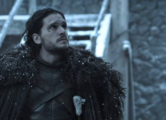 Jon Snow in Game of Thrones, season 6, episode 3, leaves Castle Black