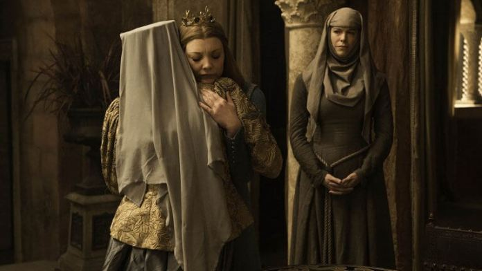 Marjorie and Olena say goodbye in episode 7 of Game of Thrones, the Broken Man