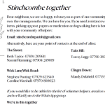 Stinchcombe Together leaflet