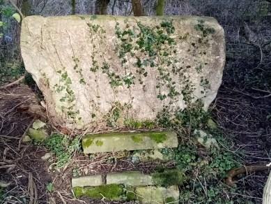 A disused slab stile in Stinchcombe parish, near Snitend Bridge