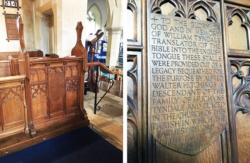 inscription on the stalls in St George's church