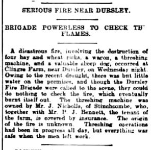 newspaper Cutting 1906