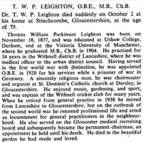 Leighton obituary